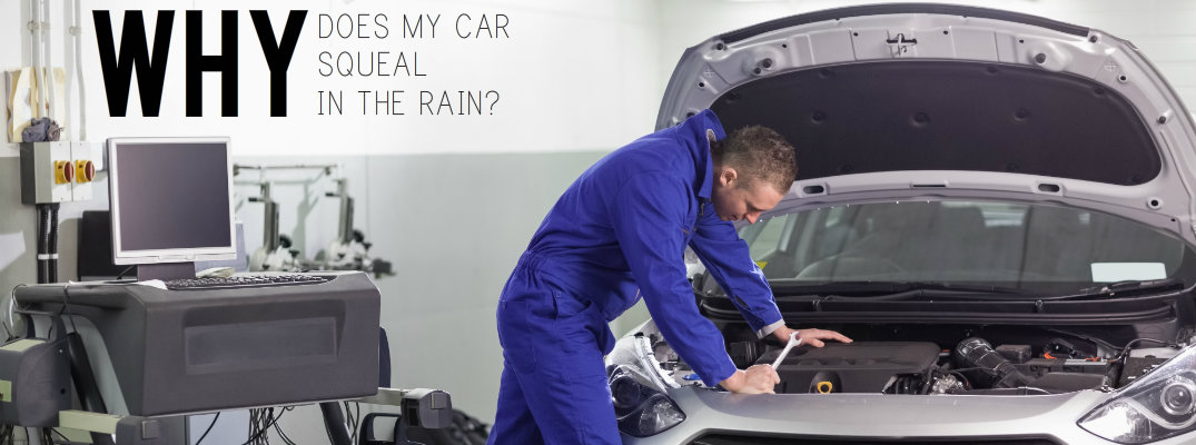 Why does my car squeal when it rains?
